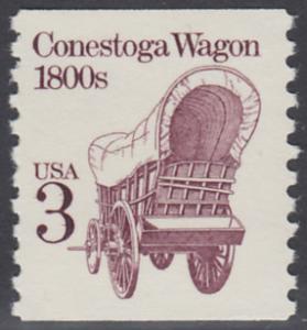 USA Michel 1971 / Scott 2252 postfrisch EINZELMARKE (coil) - Fahrzeuge: Conestoga-Wagen