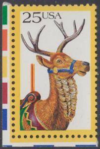 USA Michel 2010 / Scott 2390 postfrisch EINZELMARKE ECKRAND unten links - Karusselltiere