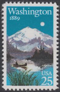 USA Michel 2030 / Scott 2404 postfrisch EINZELMARKE - 100 Jahre Staat Washington: Mt. Rainier