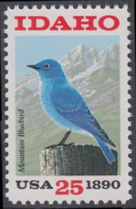 USA Michel 2072 / Scott 2439 postfrisch EINZELMARKE - 100 Jahre Staat Idaho: Berghüttensänger