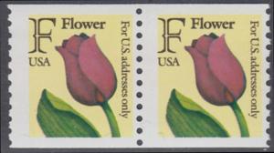 USA Michel 2116C / Scott 2518 postfrisch horiz.PAAR - Tulpe