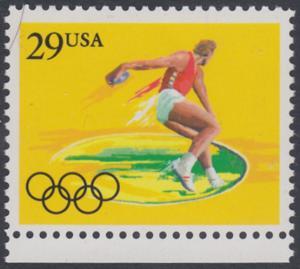 USA Michel 2156 / Scott 2554 postfrisch EINZELMARKE RAND unten - Olympische Sommerspiele 1992, Barcelona