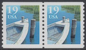 USA Michel 2160 / Scott 2529 postfrisch horiz.PAAR - Fischerboot