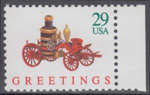 USA Michel 2331A / Scott 2712 postfrisch EINZELMARKE RAND rechts - Weihnachten: Kinderspielzeug