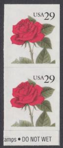 USA Michel 2394 / Scott 2490 postfrisch vert.PAAR (a1) - Blumen: Rose