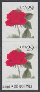 USA Michel 2394 / Scott 2490 postfrisch vert.PAAR (a2) - Blumen: Rose