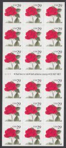 USA Michel 2394 / Scott 2490a postfrisch Foliobogen(18) - Blumen: Rose