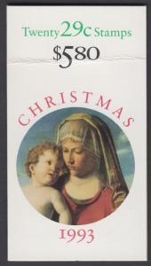 USA Michel 2405D / Scott 2790a postfrisch Markenheftchen(20) - Weihnachten: Madonna mit Kind in einer Landschaft