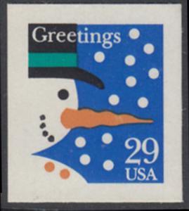 USA Michel 2422 / Scott 2803 postfrisch EINZELMARKE - Weihnachten: Schneemann