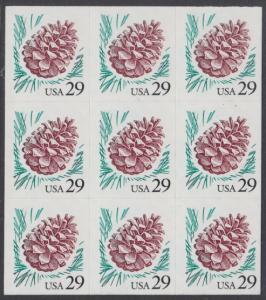 USA Michel 2424 / Scott 2891 postfrisch BLOCK(9) - Kiefernzapfen