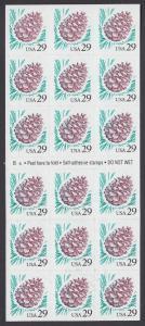USA Michel 2424 / Scott 2891 postfrisch Foliobogen(18) - Kiefernzapfen