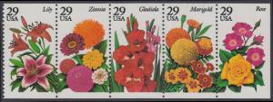 USA Michel 2450-2454 / Scott 2833a postfrisch Markenheftchenblatt(5) - Gartenblumen des Sommers
