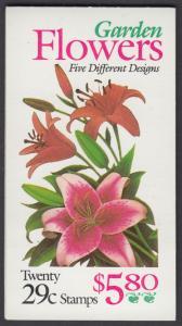USA Michel 2450-2454 / Scott 2833a postfrisch Markenheftchen(20) - Gartenblumen des Sommers
