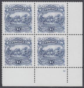USA Michel 2455 / Scott 2590 postfrisch PLATEBLOCK ECKRAND unten rechts m/ Platten-# S2 (b) - Die Kapitulation von General Burgoyne bei Saratoga