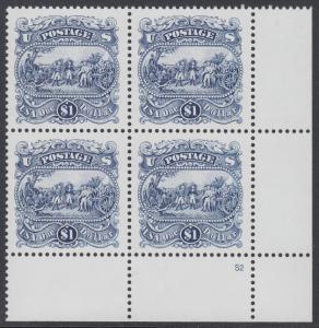 USA Michel 2455 / Scott 2590 postfrisch PLATEBLOCK ECKRAND unten rechts m/ Platten-# S2 (a) - Die Kapitulation von General Burgoyne bei Saratoga