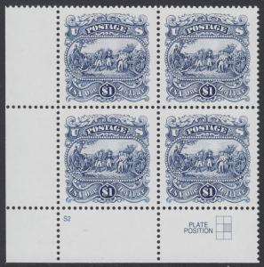 USA Michel 2455 / Scott 2590 postfrisch PLATEBLOCK ECKRAND unten links m/ Platten-# S2 (b) - Die Kapitulation von General Burgoyne bei Saratoga