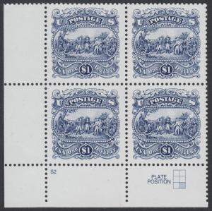 USA Michel 2455 / Scott 2590 postfrisch PLATEBLOCK ECKRAND unten links m/ Platten-# S2 (a) - Die Kapitulation von General Burgoyne bei Saratoga