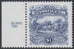 USA Michel 2455 / Scott 2590 postfrisch EINZELMARKE RAND links m/ copyright symbol - Die Kapitulation von General Burgoyne bei Saratoga