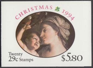 USA Michel 2526D / Scott 2871b postfrisch Markenheftchen(20) - Weihnachten: Maria mit Kind