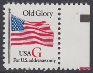 USA Michel 2533 / Scott 2882 postfrisch EINZELMARKE RAND rechts - Flagge \