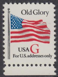 USA Michel 2533 / Scott 2882 postfrisch EINZELMARKE RAND unten - Flagge \