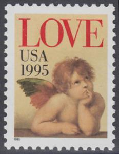 USA Michel 2543 / Scott 2948 postfrisch EINZELMARKE - Grußmarke: Engel
