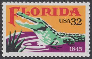 USA Michel 2545 / Scott 2950 postfrisch EINZELMARKE - 150 Jahre Staat Florida: Alligator