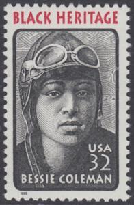 USA Michel 2558 / Scott 2956 postfrisch EINZELMARKE - Schwarzamerikanisches Erbe: Bessie Coleman, Pilotin