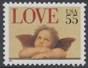 USA Michel 2561 / Scott 2958 postfrisch EINZELMARKE - Grußmarke: Engel