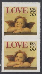 USA Michel 2562 / Scott 2960 postfrisch vert,PAAR- Grußmarke: Engel