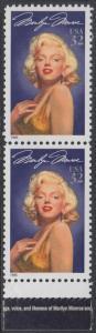 USA Michel 2570 / Scott 2967 postfrisch vert.PAAR RAND unten - Hollywood-Legenden: Marilyn Monroe (1926-1962), Schauspielerin