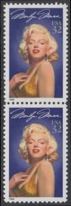 USA Michel 2570 / Scott 2967 postfrisch vert.PAAR - Hollywood-Legenden: Marilyn Monroe (1926-1962), Schauspielerin