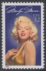 USA Michel 2570 / Scott 2967 postfrisch EINZELMARKE - Hollywood-Legenden: Marilyn Monroe (1926-1962), Schauspielerin