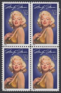 USA Michel 2570 / Scott 2967 postfrisch BLOCK - Hollywood-Legenden: Marilyn Monroe (1926-1962), Schauspielerin