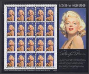 USA Michel 2570 / Scott 2967 postfrisch BOGEN(20) - Hollywood-Legenden: Marilyn Monroe (1926-1962), Schauspielerin