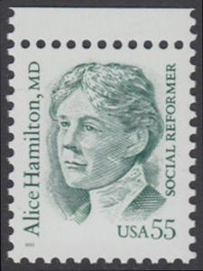 USA Michel 2607 / Scott 2940 postfrisch EINZELMARKE RAND oben - Amerikanische Persönlichkeiten: Alice Hamilton (1869-1970), Medizinerin und Sozialreformerin
