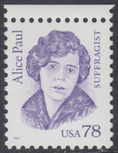 USA Michel 2613 / Scott 2943 postfrisch EINZELMARKE RAND oben - Amerikanische Persönlichkeiten: Alice Paul (1885-1977), Frauenrechtlerin