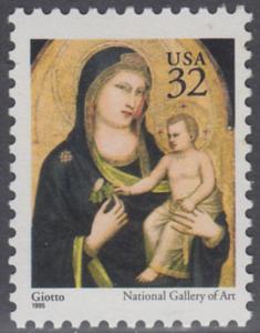 USA Michel 2674A / Scott 3003 postfrisch EINZELMARKE - Weihnachten: Maria mit Kind