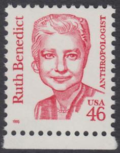 USA Michel 2677 / Scott 2938 postfrisch EINZELMARKE RAND unten - Amerikanische Persönlichkeiten: Ruth Benedict (1887-1948), Anthropologin