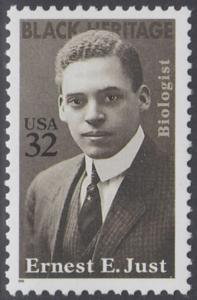 USA Michel 2691 / Scott 3058 postfrisch EINZELMARKE - Schwarzamerikanisches Erbe: Ernest E. Just (1883-1941), Meeresbiologe