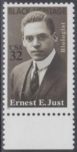 USA Michel 2691 / Scott 3058 postfrisch EINZELMARKE RAND unten (a1) - Schwarzamerikanisches Erbe: Ernest E. Just (1883-1941), Meeresbiologe