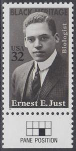 USA Michel 2691 / Scott 3058 postfrisch EINZELMARKE RAND unten (a2) - Schwarzamerikanisches Erbe: Ernest E. Just (1883-1941), Meeresbiologe