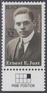 USA Michel 2691 / Scott 3058 postfrisch EINZELMARKE RAND unten (a3) - Schwarzamerikanisches Erbe: Ernest E. Just (1883-1941), Meeresbiologe