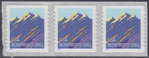 USA Michel 2701 / Scott 2904B postfrisch horiz.STRIP(3) - Gebirgszug