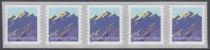 USA Michel 2701 / Scott 2904B postfrisch horiz.STRIP(5) - Gebirgszug