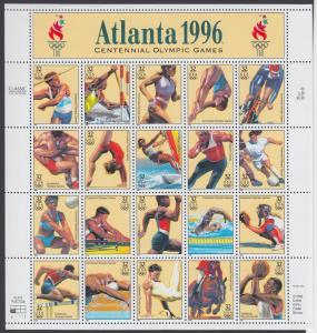 USA Michel 2705-2724 / Scott 3068 postfrisch BOGEN(20) (a4) - 100 Jahre Olympische Spiele der Neuzeit; Olympische Sommerspiele, Atlanta