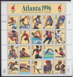 USA Michel 2705-2724 / Scott 3068 postfrisch BOGEN(20) (a5) - 100 Jahre Olympische Spiele der Neuzeit; Olympische Sommerspiele, Atlanta