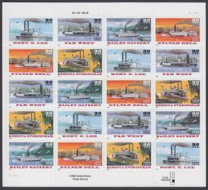 USA Michel 2755-2759 / Scott 3091-3095 postfrisch BOGEN(20) (a9) - Raddampfer