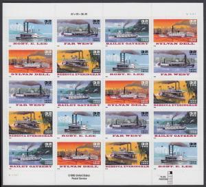 USA Michel 2755-2759 / Scott 3091-3095 postfrisch BOGEN(20) (a6) - Raddampfer