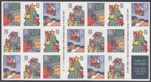 USA Michel 2789-2792 / Scott 3116a postfrisch Folioblatt(20) - Weihnachten